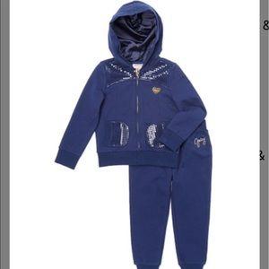 Juicy Couture navy sequin hoodie & pants
